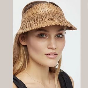 Free People Straw Island Hopper Visor